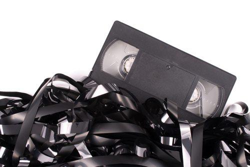 Gammel ødelagt VHS kassett
